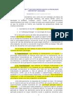 Definiciones de Psicologia Experimental y Correlacional