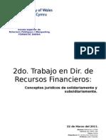 2do Trabajo Recursos Financieros (Solidariamente + Subsidiariamente
