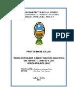 Propuesta de Redistribución del IDH - Auditoría UMSA