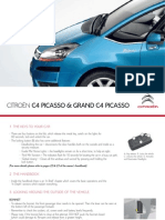 Citroen C4 Grand Picasso Quick Start Guide