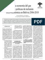 La economía del gas y las políticas de inclusión socio-económicas en Bolivia 2006-2010