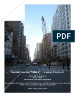 Second Avenue Subway:Lessons Learned