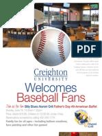 Creighton Baseball FLYER 05-13-2011