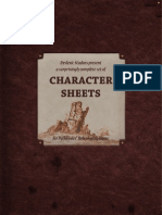 Pathfinder Character Sheets