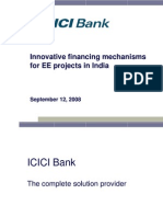 Innovative Financing Mechanisms for EE Projects in India
