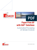 Esker - Paper-Free AP With SAP Solutions