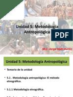 Unidad 5 Metodologia Antropologica El Metodo Etnografico