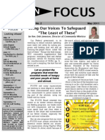 In FOCUS Newsletter - May 2011