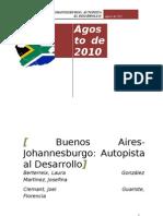 Buenos Johannesburgo Autopista Al Desarrollo