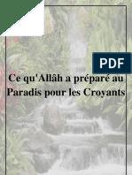 Ce Qu Allah a Prepare Au Paradis Pour Les Croyants