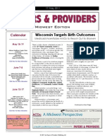 Payers & Providers Midwest Edition – Issue of May 17, 2011