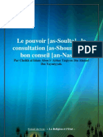 Le Pouvoir as Soulta La Consultation as Shoura Et Le