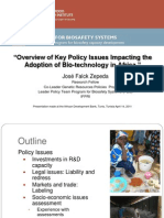 Falck Zepeda Overview of Policy Issues SSA for the AfDB April 2011