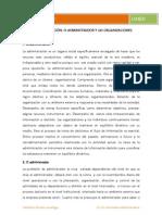 La administración, el administrador y las organizaciones