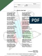 teste - poema lápis -  6º ano - adaptado