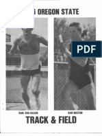 1986 Oregon State Track &  Field Media Guide