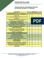 FICHA DE EVALUACION DE DESEMPEÑO DOCENTE
