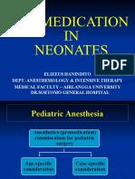 Pro Pre Medication in Neonates