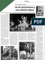 Recorte de Prensa en el Diario de Teruel de la actuación del Grupo Virgen de la Salud de Archena