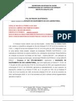 PREGÃO ELETRONICO Nº 19 AQUISIÇÃO DE MICROTOMO