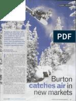 Burton Catches Air in New Markets