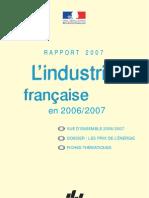 rapport de l'industrie en france 2007