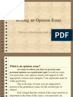 0an Opinion Essay