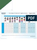 Cybershot Comparison Chart FY11
