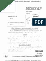 POMALES v. ACE AMERICAN INSURANCE COMPANY Complaint