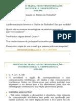 PROCESSO DO TRABALHO EM TRANSFORMAÇÃO