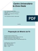 Beneficiamento Minerio de FERRO