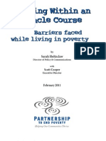 Living Within an Obstacle Course - Barriers Faced While Living in Poverty