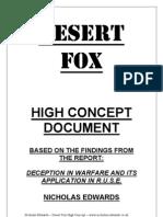 Deception in Warfare High Concept - DesertFox