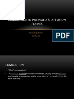 Combustion in Premixed & Diffusion Flames