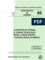 A Industria de Defensa, Es Desfase Tecnoogico Entre La Union Europea y Estadis Unidos