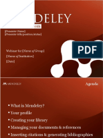 Mendeley Teaching Presentation