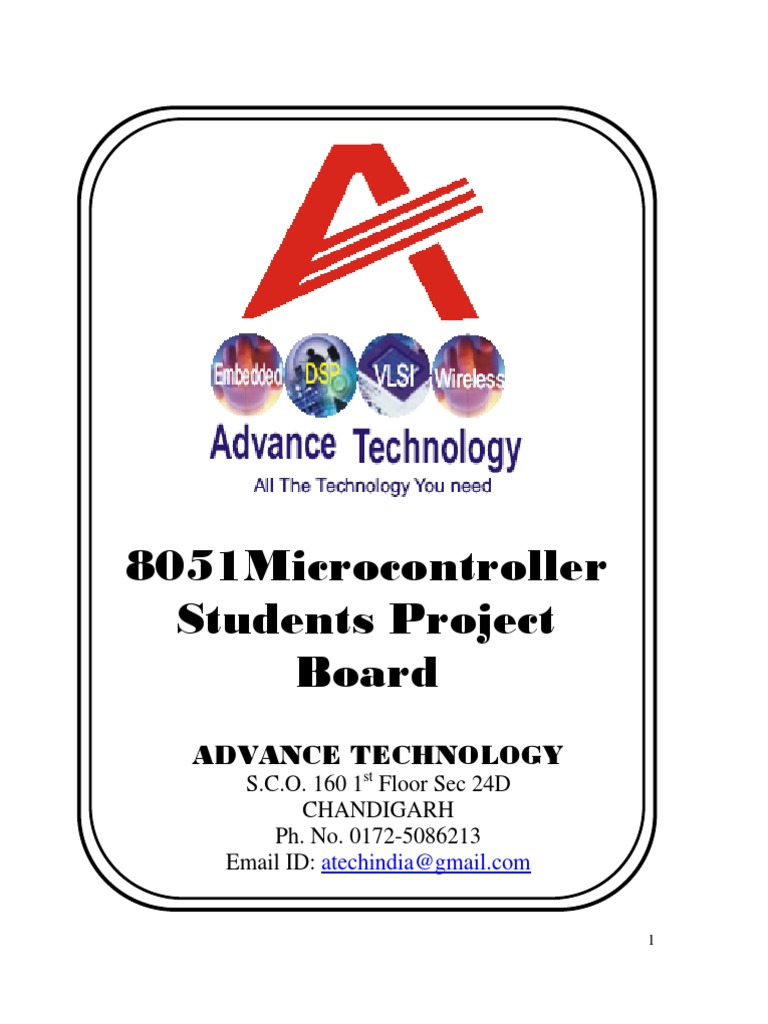 8051 Student Projects Microcontroller Manufactured Goods Gsm Modem Interfacing With At89c51