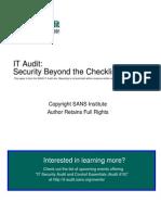 Auditing Cisco Pix Firewall 31