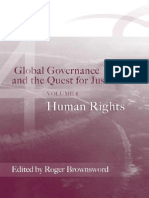 Global Governance and the Quest for Justice- Human Rights Yazar- Roger Brownsword