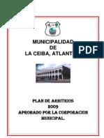 Plan de Arbitrios 2009