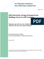 DSM Electricity Savings Potential in the Buildings Sector in APP Countries