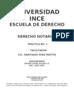 Guia Practica No. 1 Derecho Notarial