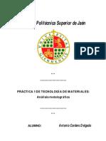 PRACTICA 1 - Analisis metalografico