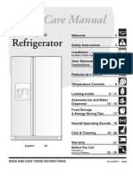 Frigid a Ire Refrigerator - Manual