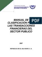 Manual de Clasific. para Transac. Finan. del Público