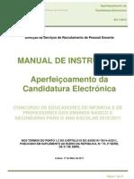 Manual do Aperfeiçoamento da Candidatura; 2011.mai.17