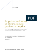 OIT Informe Global Sobre La Igualdad en El Trabajo