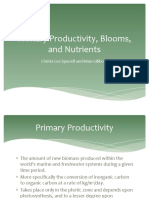 Primary Productivity, Blooms, And Nutrients