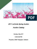Silent Auction 2011 Catalog