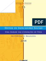 Síntese Indicadores Sociais - Brasil 2008
